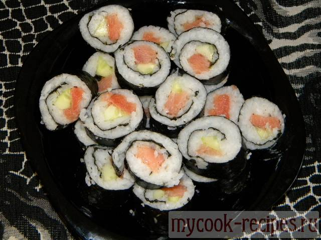 Easy rolls salmon recipe