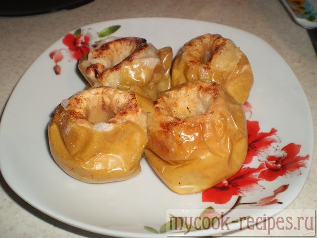 Запечённые яблоки в духовке с мёдом рецепт
