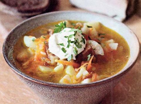 Рецепт картофельного супа со сметаной