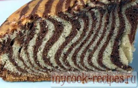 Как сделать торт зебра